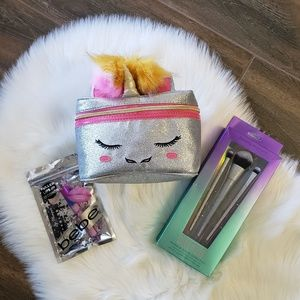 B2G1 NWT Glitter Unicorn Bag & Makeup 3 Piece Set